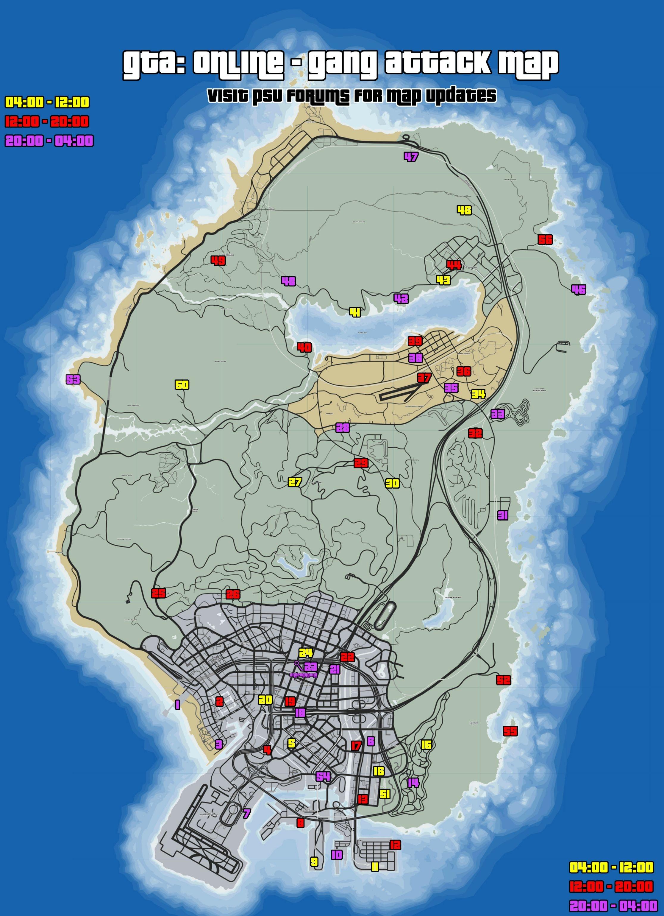 Карта бандитских разборок