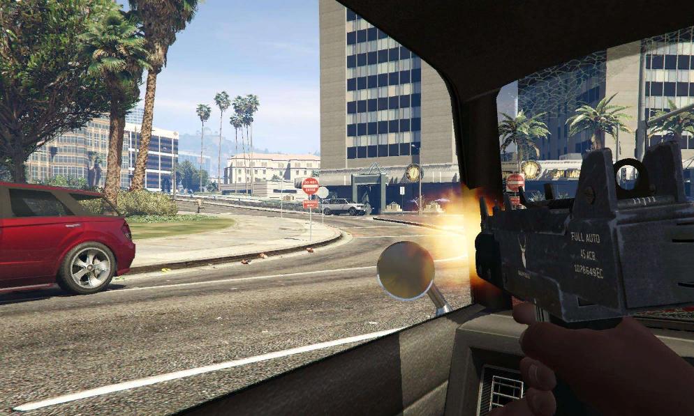Как стрелять из машины в гта 5