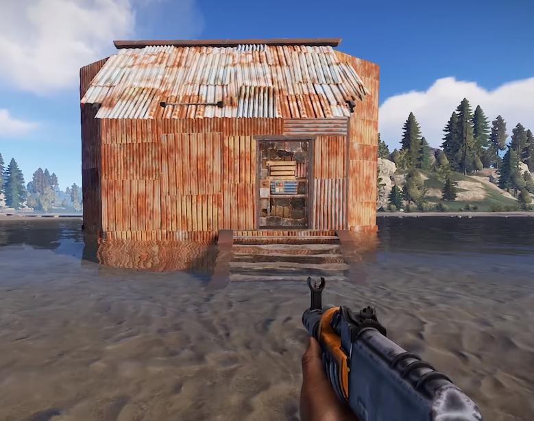 как сделать бункер в rust