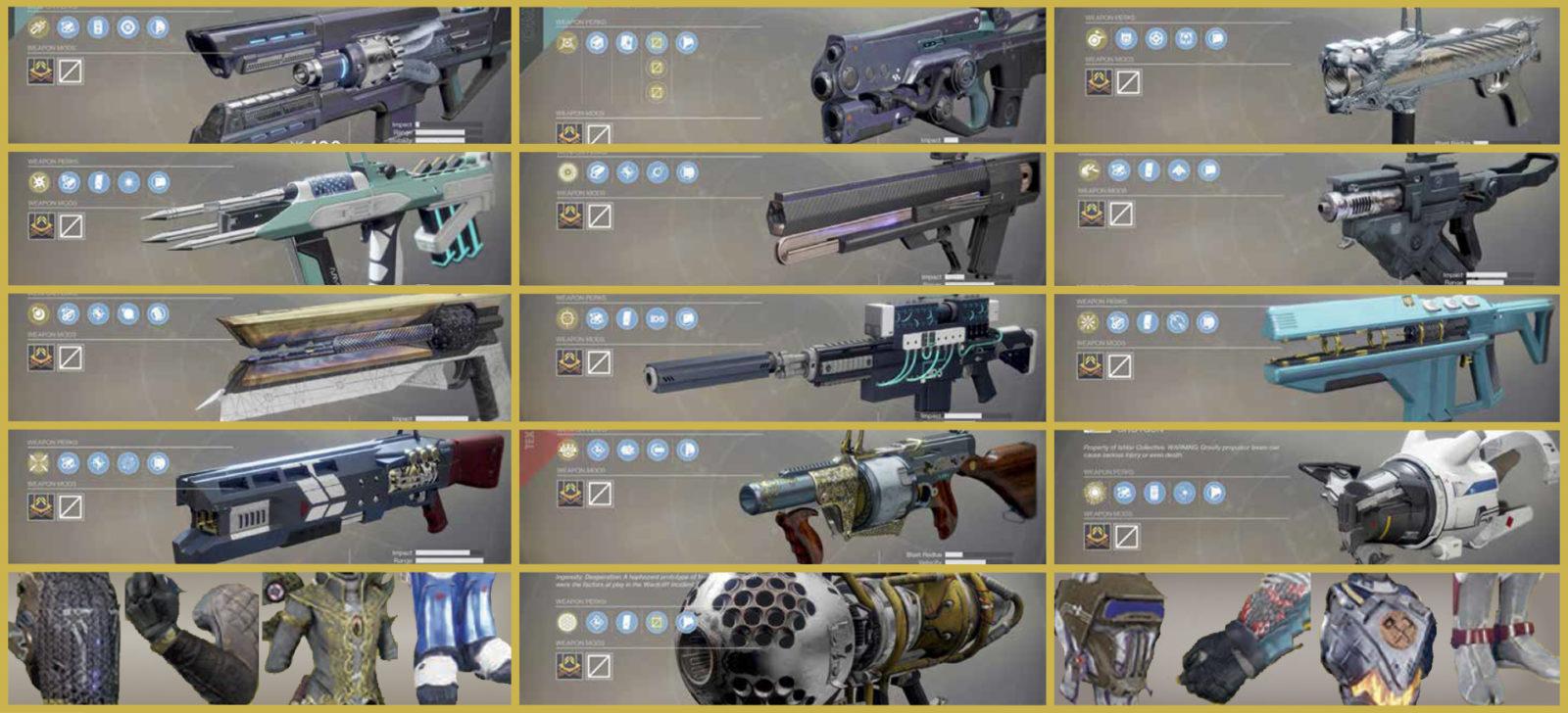 destiny 2 экзотическое оружие