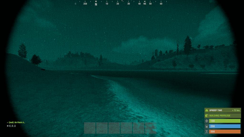 Прибор ночного видения ночью в Rust